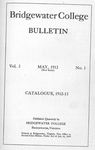 Bridgewater College Catalogue, Session 1912-13 by Bridgewater College