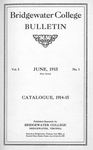 Bridgewater College Catalogue, Session 1914-15 by Bridgewater College