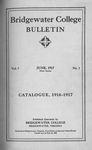 Bridgewater College Catalogue, Session 1916-17 by Bridgewater College