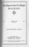 Bridgewater College Catalogue, Session 1917-18