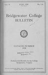 Bridgewater College Catalog, Session 1919-20