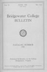 Bridgewater College Catalog, Session 1920-21