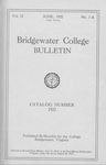 Bridgewater College Catalog, Session 1921-22