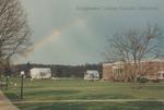 Bridgewater College, Rainbow over the College Farm and Blue Ridge Hall, undated by Bridgewater College
