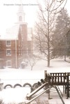 Bridgewater Church of the Brethren during heavy snowfall, David Cook (photographer), March 1993 by David Cook
