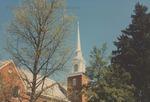 Bridgewater Church of the Brethren Steeple, 22 April 1996 by Bridgewater College