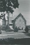 College Street Church-Bridgewater Church of the Brethren with ivy, undated by Bridgewater College