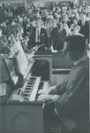Organist John Barr playing in Bridgewater Church of the Brethren - College Street Church, 1970s by Bridgewater College
