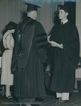 Bridgewater College, A student receiving his diploma, 1951 by Bridgewater College