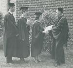 Bridgewater College, Joe Powell (photographer), Dean Dale Ulrich and three graduates, 2 June 1968 by Joe Powell