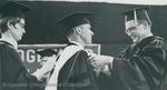 Bridgewater College, S. Loren Bowman receiving an honorary degree, 1 June 1969 by Bridgewater College