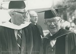 Bridgewater College, Francis F. Wayland and Jesse Ziegler at commencement, 25 May 1980 by Bridgewater College