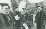 Bridgewater College, Administrators with speaker Jesse Ziegler at commencement, 1980 by Bridgewater College