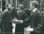 Bridgewater College, A graduate and faculty member shaking hands at commencement, 1980 by Bridgewater College
