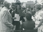 Bridgewater College, A graduate showing her diploma at commencement, 1981 by Bridgewater College