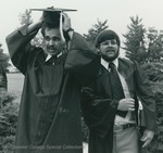 Bridgewater College, Two students in academic regalia at commencement, 1981 by Bridgewater College