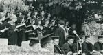 Bridgewater College, The chorus or choir singing at graduation, 1981 by Bridgewater College