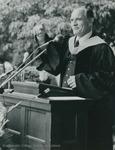 "Bridgewater College, Robert E. ""Bob"" Richards speaking at commencement, 1981 by Bridgewater College"