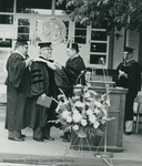 Bridgewater College, Edward K. Ziegler receiving an honorary degree at commencement, 1981 by Bridgewater College
