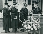 """Bridgewater College, Robert E. """"Bob"""" Richards receiving an honorary degree at commencement, 1981 by Bridgewater College"""