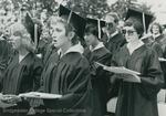 Bridgewater College, Graduates singing or reciting at commencement, 1981 by Bridgewater College