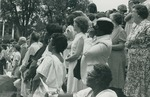 Bridgewater College, The crowd at commencement, 1981 by Bridgewater College