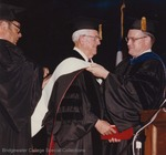 Bridgewater College, M. Guy West receiving an honorary degree at commencement, 1982 by Bridgewater College