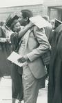 Bridgewater College, A graduate hugging a man, 29 May 1983 by Bridgewater College