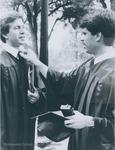 Bridgewater College, A graduate adjusting another graduate's tie, 1983 by Bridgewater College