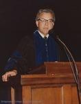 Bridgewater College, Warren F. Groff speaking at commencement, 1983 by Bridgewater College