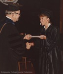 Bridgewater College, A student receiving her diploma from President Wayne F. Geisert, 29 May 1983 by Bridgewater College