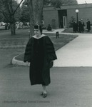 Bridgewater College, Professor Martha B. Thornton in academic regalia, May 1984 by Bridgewater College