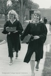 Bridgewater College, Two graduates leaving Nininger Hall, May 1984 by Bridgewater College