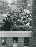 Bridgewater College, Graduating seniors bunched on old campus, May 1984 by Bridgewater College