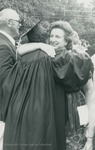 Bridgewater College, People embracing after graduation, May 1984 by Bridgewater College