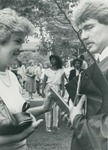 Bridgewater College, A graduate and a woman talking, May 1984 by Bridgewater College