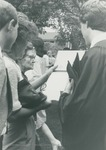 Bridgewater College, A graduate showing his diploma, May 1984 by Bridgewater College