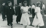 Bridgewater College, The marshals and platform party recessing after commencement, May 1984 by Bridgewater College