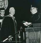 Bridgewater College, Harry F. Byrd Jr. receiving an honorary degree, May 1984 by Bridgewater College