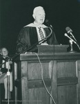 Bridgewater College, Harry F. Byrd Jr. speaking at commencement, May 1984 by Bridgewater College