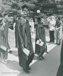 Bridgewater College, Graduate Wolfgang Drechsler at commencement, May 1985 by Bridgewater College