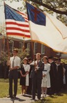 Bridgewater College, Flag bearers and marshals starting the commencement procession, May 1985 by Bridgewater College