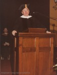 Bridgewater College, Clyde R Shallenberger speaking at commencement, May 1985 by Bridgewater College