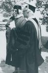 Bridgewater College, Ruth Weybright Stauffer and Lowell Heisey at Baccaulaureate, May 1986 by Bridgewater College