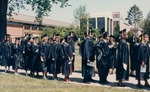 Bridgewater College, Seniors lined up for commencement, May 1986 by Bridgewater College