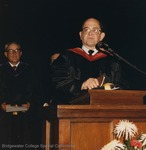 Bridgewater College, Reverend Bobby L Phillips giving the commencement invocation, May 1986 by Bridgewater College