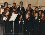 Bridgewater College, The Concert Choir performing at commencement with handbells, May 1986 by Bridgewater College