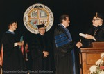 Bridgewater College, Dr. Ronald E. Carrier receives an honorary degree at commencement, May 1986 by Bridgewater College
