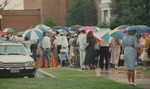 Bridgewater College, Friends and family at commencement in the rain, 9 May 1993 by Bridgewater College