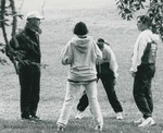 Bridgewater College, Coach Shane Stevens with members of the women's Cross Country team, late 1990s by Bridgewater College
